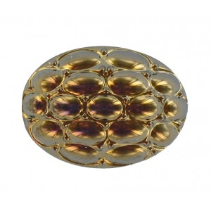 Oval bronze cabochon 25x18 mm