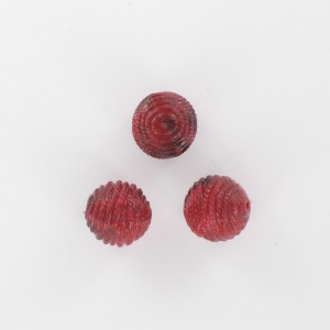 Striped bead, claret coloured 12 mm
