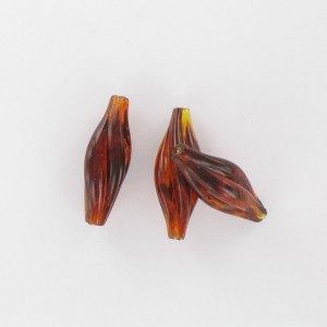Twisted olive, tortoise shell 24x8 mm