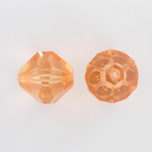 Faceted bicone, rosaline 22 mm