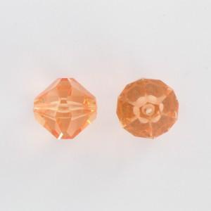 Toupie facettée, rosaline 18 mm
