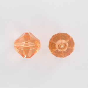 Faceted bicone, rosaline 18 mm