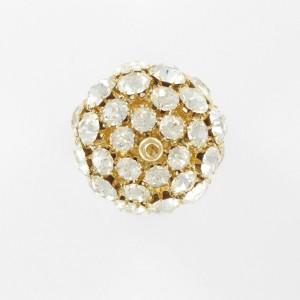 Perle boule avec strass, cristal doré 30 mm