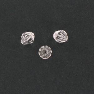 Striped bicone with cut facets, crystal 10x9 mm