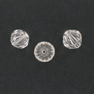 Toupie striée et taillée, cristal 14x13 mm