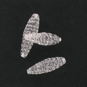 Fuseau en verre filé, cristal 28x9 mm