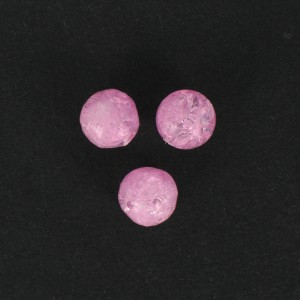 Bead with crackled look, pink 12 mm