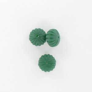 Pumpkin, fir green 12x8 mm