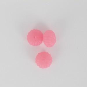 Pumpkin, pink 12x8 mm