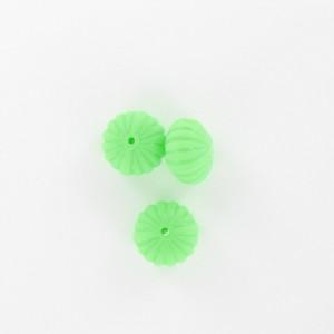 Pumpkin, green 12x8 mm
