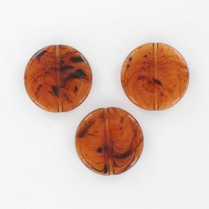Flat round bead, tortoiseshell 20 mm