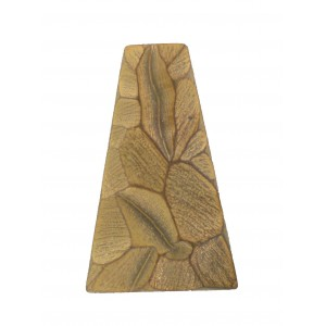 "Trapezium ""rock""  mat copper 38x24 mm"