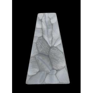 "Trapezium ""rock"" mat hematite 38x24 mm"