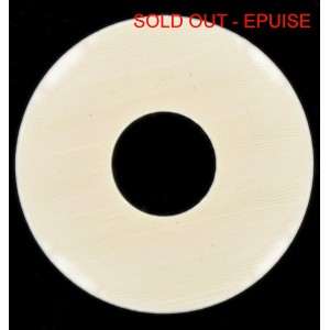 Disc, ivory, 70 mm