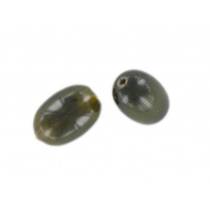 Olive, grey-green, 15x10 mm