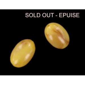 olive ambre 15x10 mm