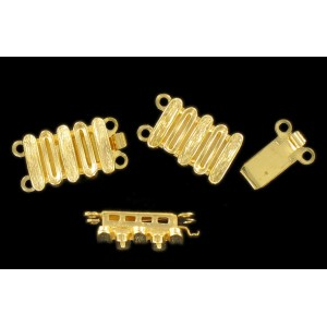Gilded fastener two raws