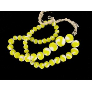 Necklace bicoulored white and yellow