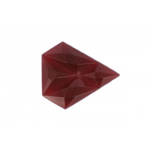 Arrow shaped cabochon, cornelian, 34x29 mm