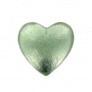 Heart cabochon peridot 25 mm