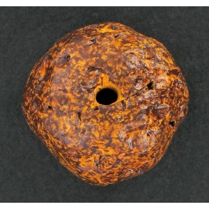 Brown yellow bead 20 mm