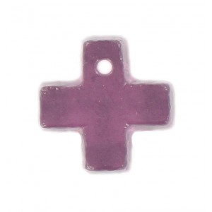 Cross pendant amethyst 15 mm