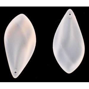 Pendant poire cristal mat 40x20 mm