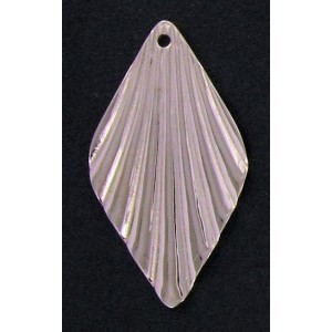 Nickel plated  diamond shape corrugated pendant 39x22 mm