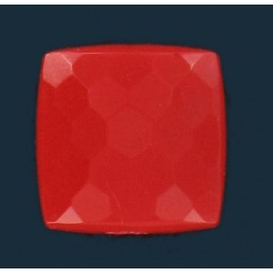 faceted and curved square red 9 mm