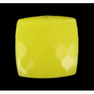 faceted and curved square, yellow 9 mm