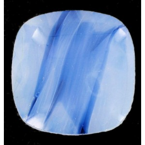 rounded square pointed back blue 22 mm