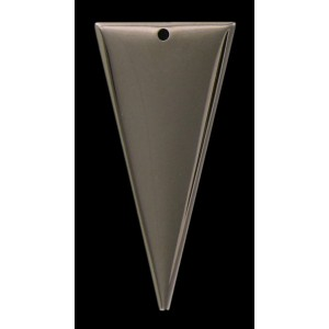 nickel plated triangle pendant 40x20 mm