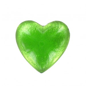 Heart cabochon emerald 25 mm