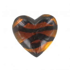 Heart cabochon tortoise shell 25 mm