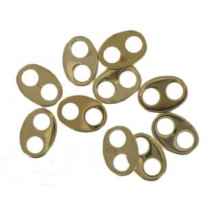 oval link 2 holes golden brown 12x9 mm