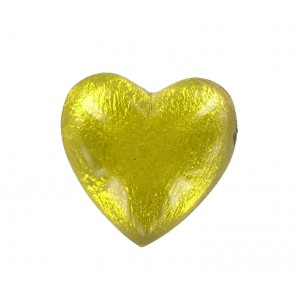 Heart cabochon jonquil 25 mm