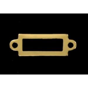 rectangular link, openwork, gilded 24x8 mm