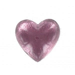 Heart cabochon amethyst 25 mm