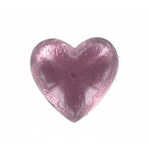 Heart cabochon amethyst 25 mm