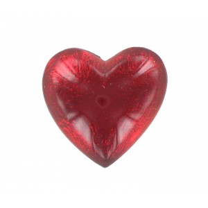 Cabochon coeur rubis 25 mm