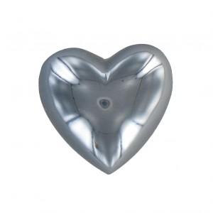 Cabochon coeur hématite 25 mm