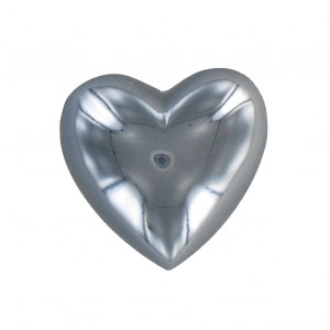 Heart cabochon hematite 25 mm