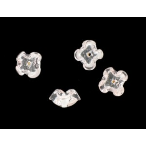 Two tone flower bead, crystal light rose 12 mm