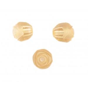 Rosebud cut bead, light topaz 10 mm