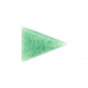Triangle cabochon, jade 24x18 mm