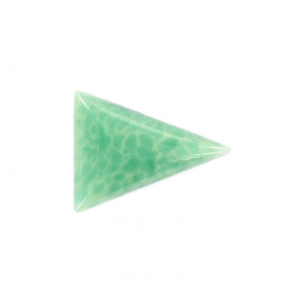 triangle cabochon jade 24x18 mm vintage luk