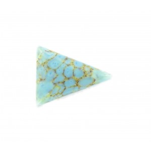 Triangle cabochon, turquoise matrix 24x18 mm