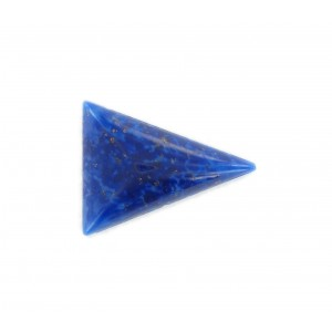 Triangle cabochon, lapis lazuli 24x18 mm