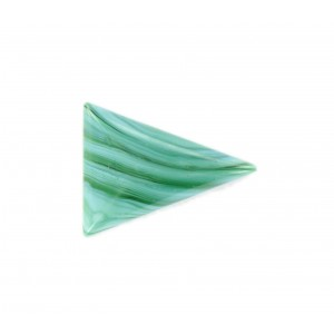 Triangle cabochon, veined green 24x18 mm