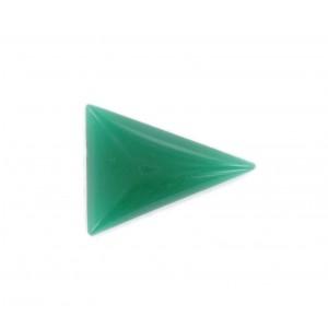 Triangle cabochon, chrysolite 24x18 mm